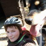 Größere gemeinsame Pause gestern an der Wanderhütte im Eisenbacher Wald